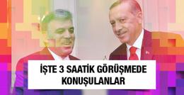 İşte Erdoğan-Gül buluşmasında konuşulanlar