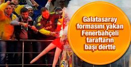 Galatasaray formasını yakan Fenerbahçeli'ye dava
