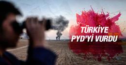 TSK Suriye'deki PYD mevzilerini vurdu!