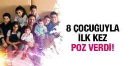 İzzet Yıldızhan 8 çocuğu ilie böyle poz verdi!