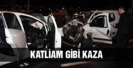 Ankara'da feci kaza kamyonet ile otomobil...