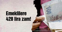 Emekliler artı 428 lira maaş alacak