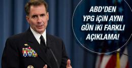 ABD'den YPG için iki farklı açıklama!