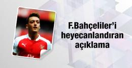 Mesut Özil Fenerbahçeliler'i heyecanlandırdı