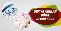SGK'ya ayrılan bütçe rekor kırdı!