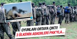 Şok görüntüler! ABD İngiltere ve Fransa askerleri PKK'yla....