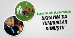 Shaktar Donetsk-Dinamo Kiev maçında yumruklar konuştu