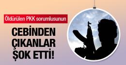 Öldürülen PKK sorumlusunun cebinden çıkan şok etti!