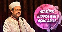 Diyanet'ten Atatürk iddiası için açıklama!