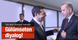 Erdoğan'dan Çipras'ı gülümseten soru