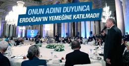 Onun geleceğini duyunca Erdoğan'ın yemeğine katılmadı!