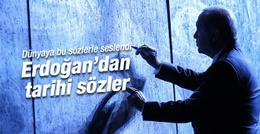 Erdoğan'dan dünyaya anlamlı mesaj