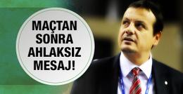 Ergin Ataman o mesajı yayınladı ahlaksız teklif