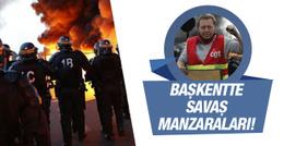 İş yasası protestoları Fransa'yı sallıyor!