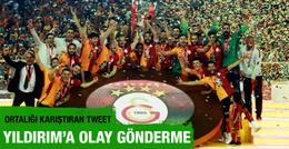 Galatasaray Aziz Yıldırım'a gönderme yaptı: Ağlama!