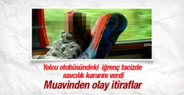 Otobüsteki iğrenç tacize tutuklama!