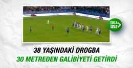 Drogba son dakikada frikikten attı maçı kazandırdı