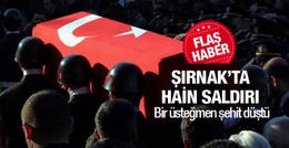 Şırnak'ta çatışma çıktı 1 şehit var!