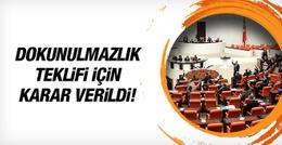 AK Parti, CHP ve MHP dokunulmazlık teklifini kabul etti!