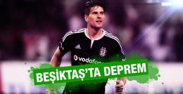 Beşiktaş'ta Mario Gomez depremi