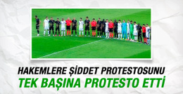 Eski Trabzonsporlu futbolcudan tek kişilik protesto