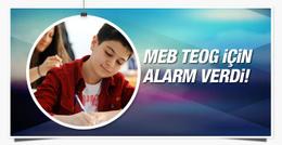MEB TEOG puanları için alarm verdi!