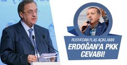 Rusya'dan Erdoğan'ın PKK iddiasına cevap!