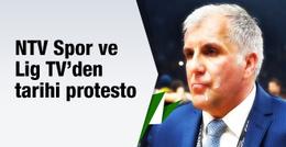 NTV Spor ve Lig TV'den tarihi protesto!