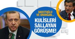 Ankara'da kulisleri sallayan görüşme! Davutoğlu ve Erdoğan...