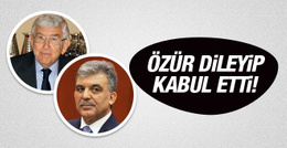Abdullah Gül'den özür dileyip kabul etti!