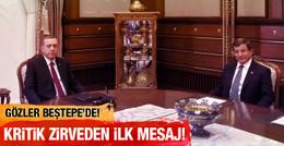 Beştepe'de Erdoğan Davutoğlu zirvesi sona erdi!