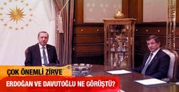 Önemli Erdoğan-Davutoğlu görüşmesi