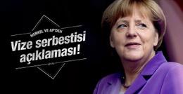 AP ve Merkel'den vize serbestisi açıklaması