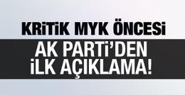 AK Parti'den karar sonrası ilk açıklama geldi!