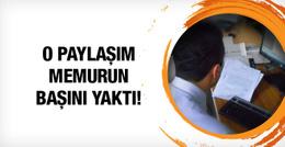 SGK memuruna terör örgütü paylaşımı için hapis cezası