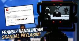 Fransız kanalından Davutoğlu için küstah tweet!