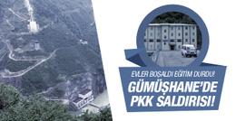 PKK Gümüşhane'de hidroelektrik santraline saldırdı!