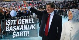 AK Parti'de genel başkanlık için aranan şart!