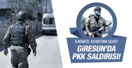 Giresun'da jandarma karakoluna saldırı