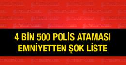 Polis atamaları şok emniyet listesi 4 bin 500...