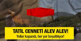 Tatil cenneti Antalya alev alev yanıyor! Büyük kaçış başladı