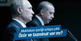 Erdoğan'ın Putin'e yazdığı mektup içeriği sızdı
