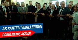 AK Parti grubu TV karşısında kurdele kesti!