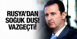 Rusya'dan Esad'a soğuk duş! Vazgeçti