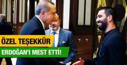 Arda Turan Cumhurbaşkanı Erdoğan'ı mest etti