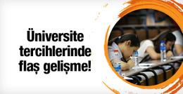 Üniversite tercih takviminde flaş değişiklik!
