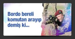 Bordo bereli komutan Efkan Ala'ya arayıp demiş ki...