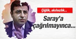 Saray'a davet edilmeyen Demirtaş'tan ilk tepki!