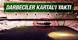 Vodafone Arena'ya inen helikopter Beşiktaş'ı yaktı