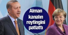 Erdoğan Alman kanalın reytingini patlattı Merkel'i ezdi